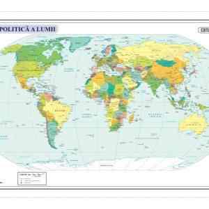 Harta fizica si administrativa a Lumii 7