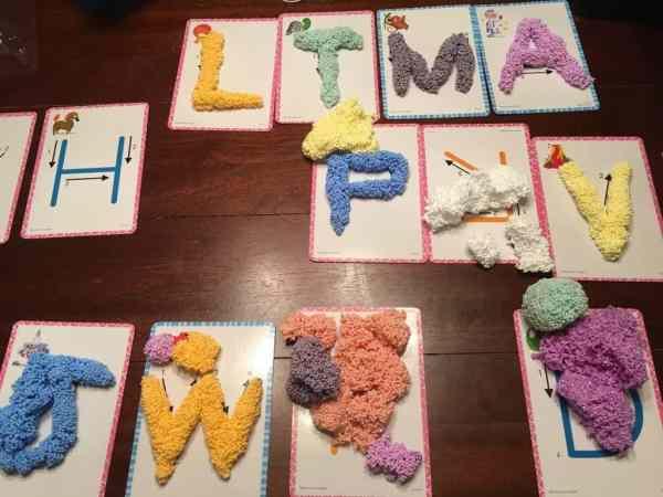 Spuma de modelat - Set Alfabetul 8