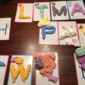 Spuma de modelat - Set Alfabetul 19