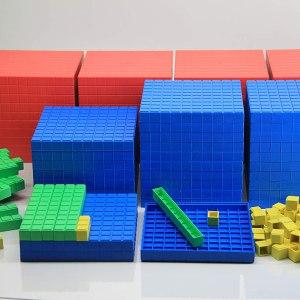 Sistemul zecimal, cuburi in baza 10, set pentru clasa 7