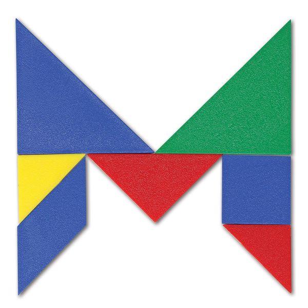 Tangram 4 culori - set pentru Clasa 5