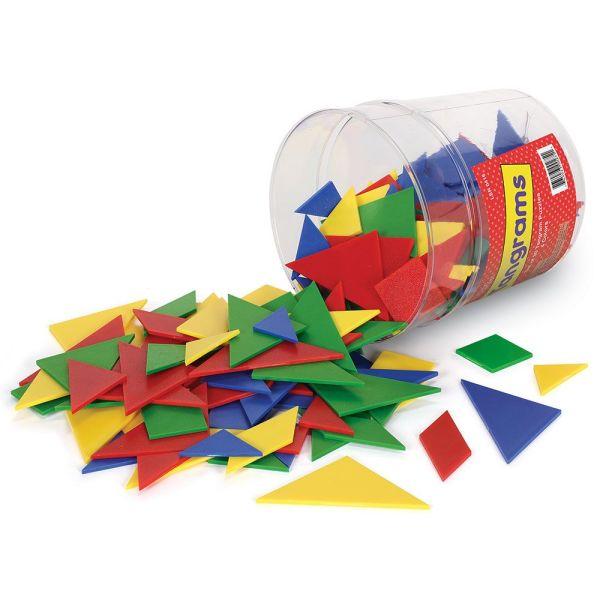 Tangram 4 culori - set pentru Clasa 3