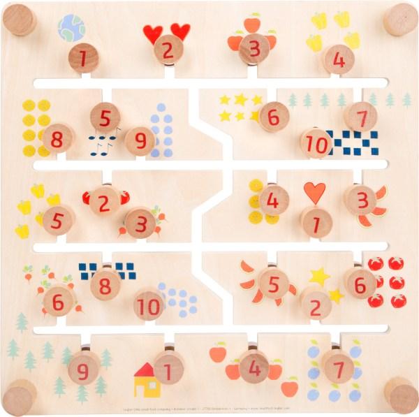 Puzzle glisant cu doua fete, litere si cifre 6