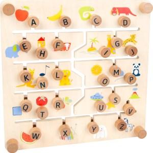 Puzzle glisant cu doua fete, litere si cifre 9