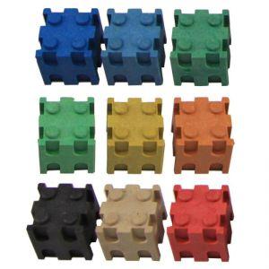 Set cuburi interconectabile - 10 culori 10