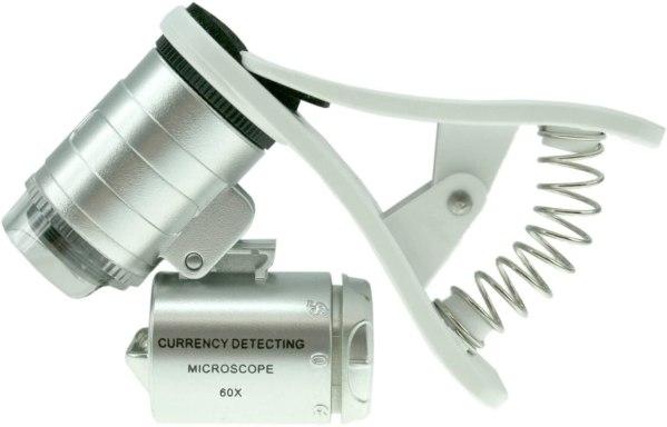 Mini Microscop 60X cu clip prindere Smartphone 3