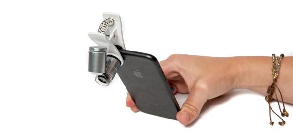 Mini Microscop 60X cu clip prindere Smartphone 7