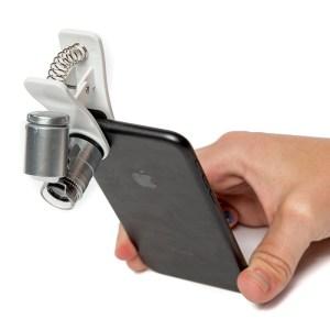 Mini Microscop 60X cu clip prindere Smartphone 19