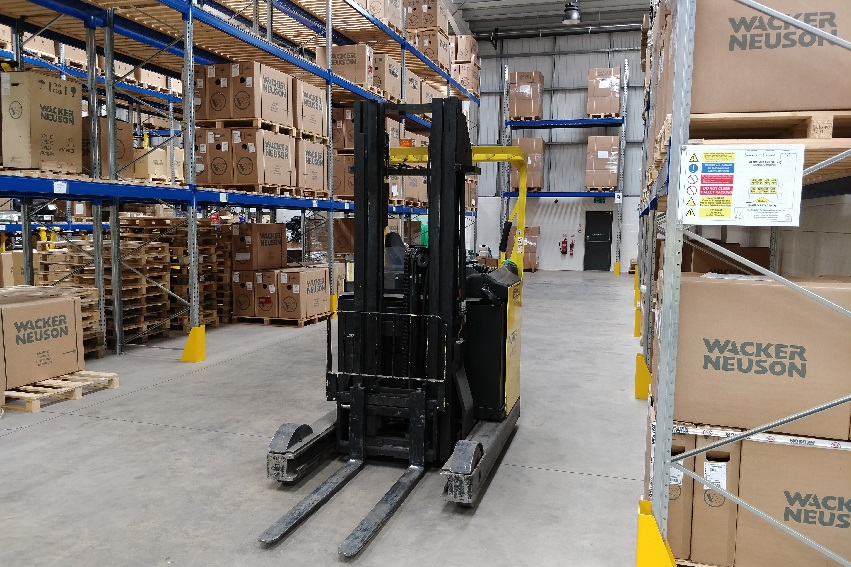 forklift and racking