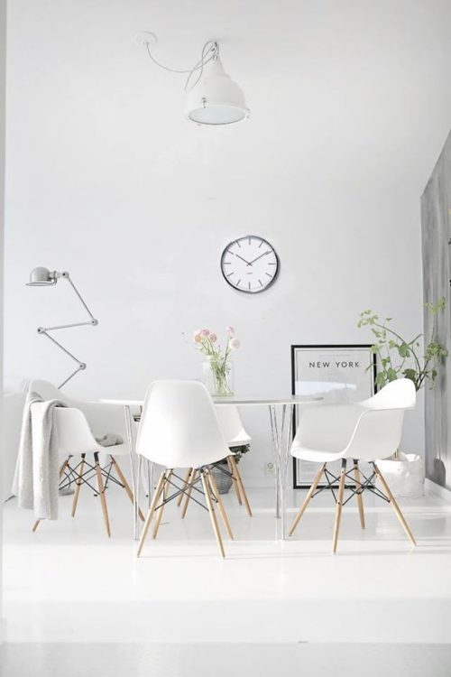 "alt=""interior-design-tendenza-white-minimal-vitra-daw-plastic-chair"""