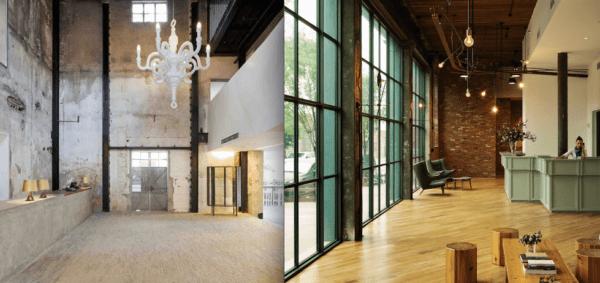 """alt=""""lostileindustrialeera nell'interiordesign-architettura-shanghai-newyork-williamsburg-waterhouseataouthbund-wythe"""""""
