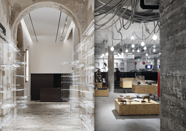"alt=""lostileindustrialeera nell'interiordesign-design-milano-boutiqueantonia-vincenzodecotiis-remiksarchitects"""