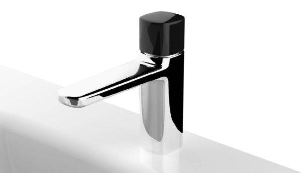 """alt=""""rubinetto-lamé-fantini-rubinetterie-matteo-thun-monocomando-nero"""""""