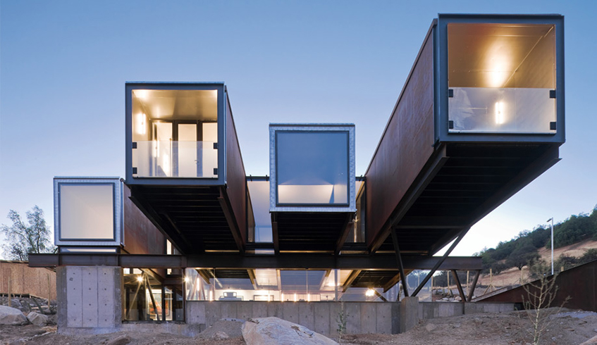 """alt=""""Shipping container home -The Caterpillar House"""""""