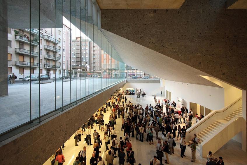 "alt=""Grafton architects - Biennale 2018 - Bocconi MIlano - Interno"""