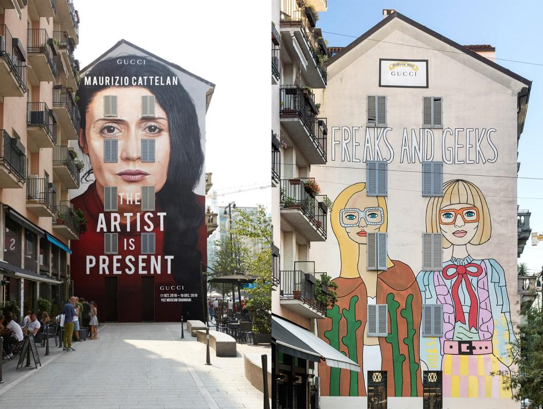 """alt=""""Nuove architetture a Milano - Murales Gucci - Largo la Foppa"""""""
