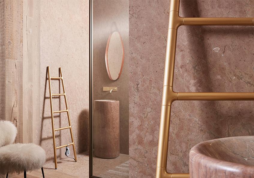 """alt=""""Regali di Natale & design - Scaldasalviette elettrico Scaletta - Tubes - Special edition Gold"""""""