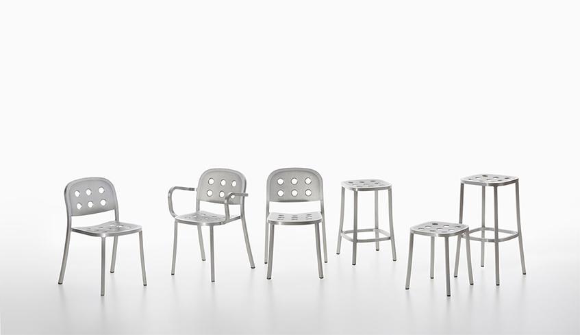 """alt=""""Alluminio tra riciclabilità e design - Emeco 1-inch chair - Jasper Morrison"""""""