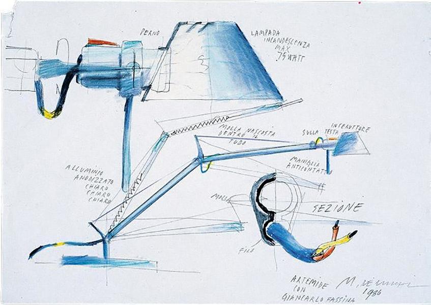 """alt=""""Alluminio tra riciclabilità e design - Tolomeo di Artemide - De Lucchi"""""""