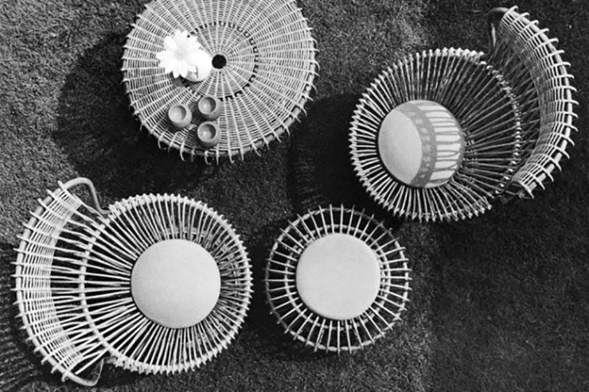 "alt=""Ciqnue idee per l'outdoor design - Copertina - Margehrita di Franco Albini"""