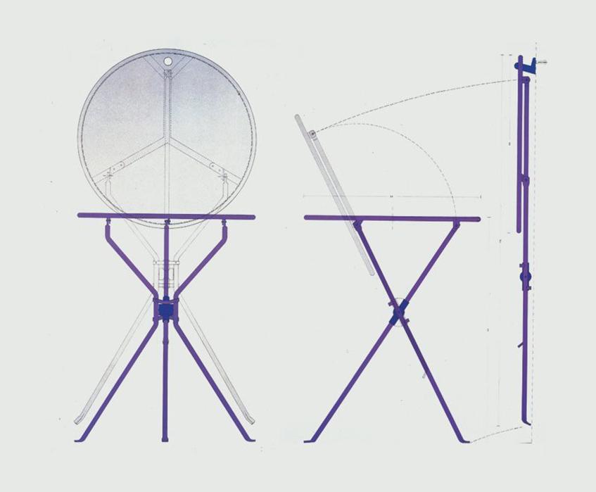 "alt=""Design pieghevole - Tavolino Cumano - Zanotta"""