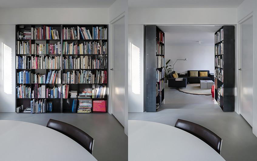 "alt=""Soluzioni per spazi flessibili - Fritsjurgens - Abitazione - Secret bookcase"""