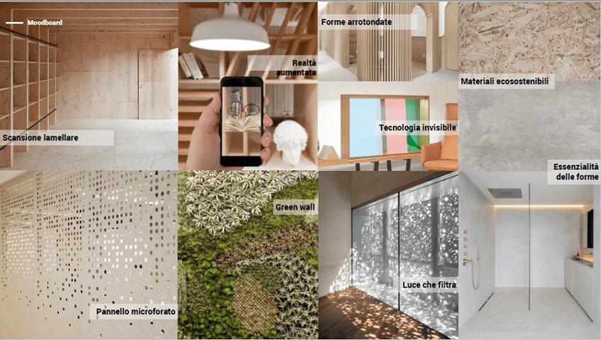 """alt=""""Design per l'ospitalità - SIA Rimini - Il Prisma - Cosmoosis moodboard"""""""