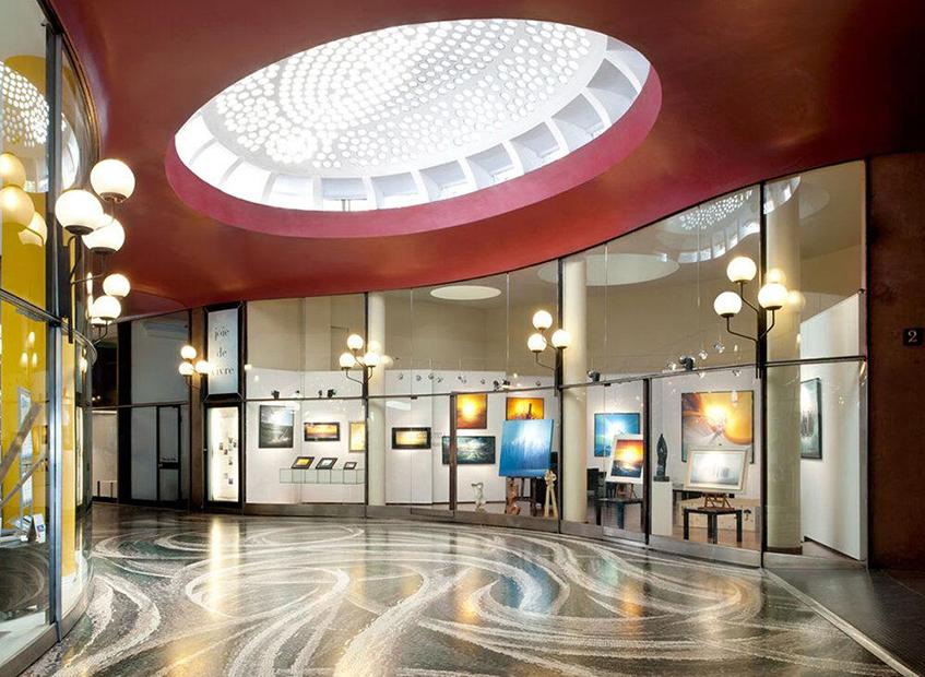 """alt=""""Gallerie e passaggi coperti milanesi - Galleria Strasburgo - Milano - Arch. Luigi Caccia Dominioni"""""""