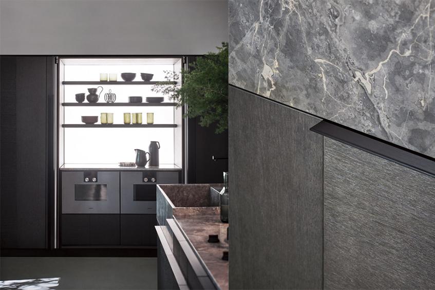 """alt=""""Tre stili diversi in cucina - Cesar cucine - Modello intarsio - Dettaglio"""""""