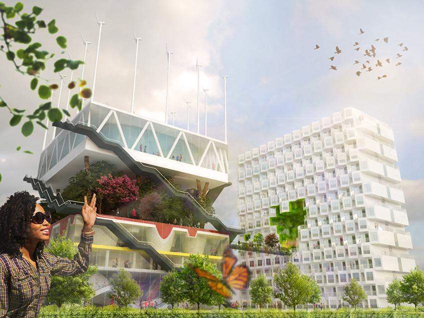 """alt=""""Architettura e pandemia - MVRDV -Hannover Expo"""""""