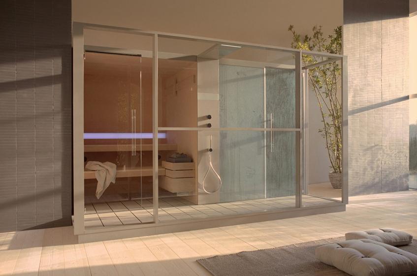 """alt=""""La casa in campagna tra architettura e design - Logica sauna e hammam - Effe"""""""