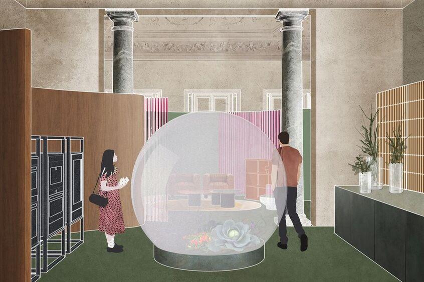 "alt: ""materialiedesign-la-casa-fluida-elle-decor-palazzo-bovara-salone2021"""