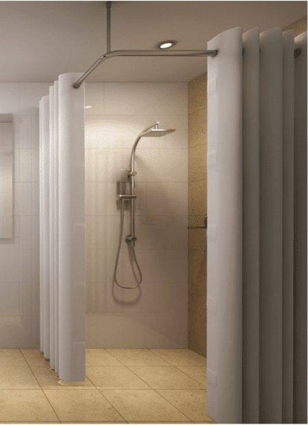 hookless shower curtains rods