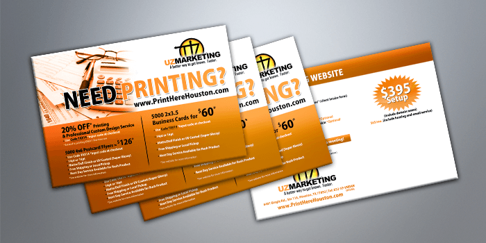 Business cards postcards and flyers for marketing postcard printing houston colourmoves
