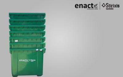 Αποστολή στην Κ/Ξ Enact Stirixis 247 πλαστικούς κάδους 1100