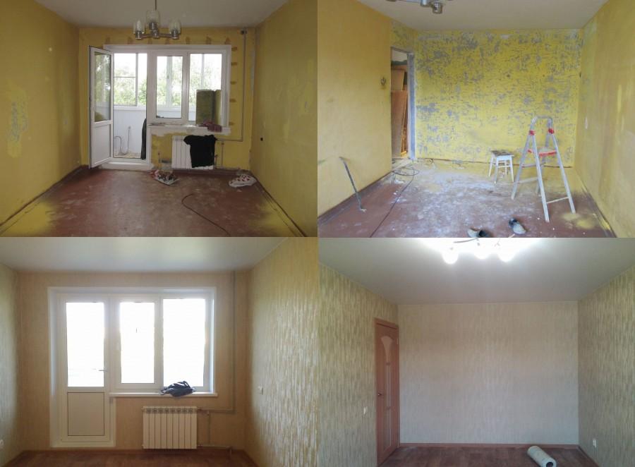 Смотреть фото до и после ремонта квартир