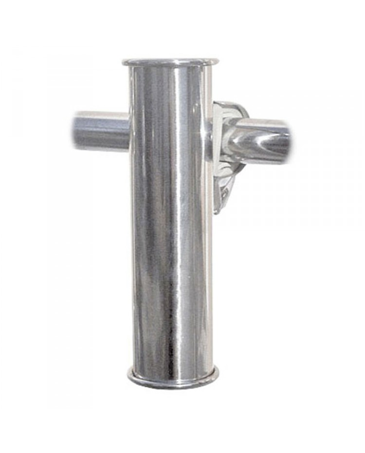 porte canne inox o37x155mm fixation sur balcon o25 30 a l unite