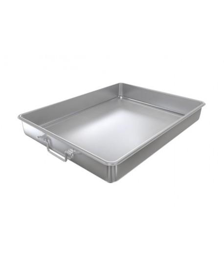 plats de transport de repas avec couvercle acier inox 70 x50 x 8 cm