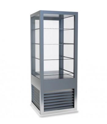 vitrine refrigere panoramique 400 litres 4 tablettes en verre