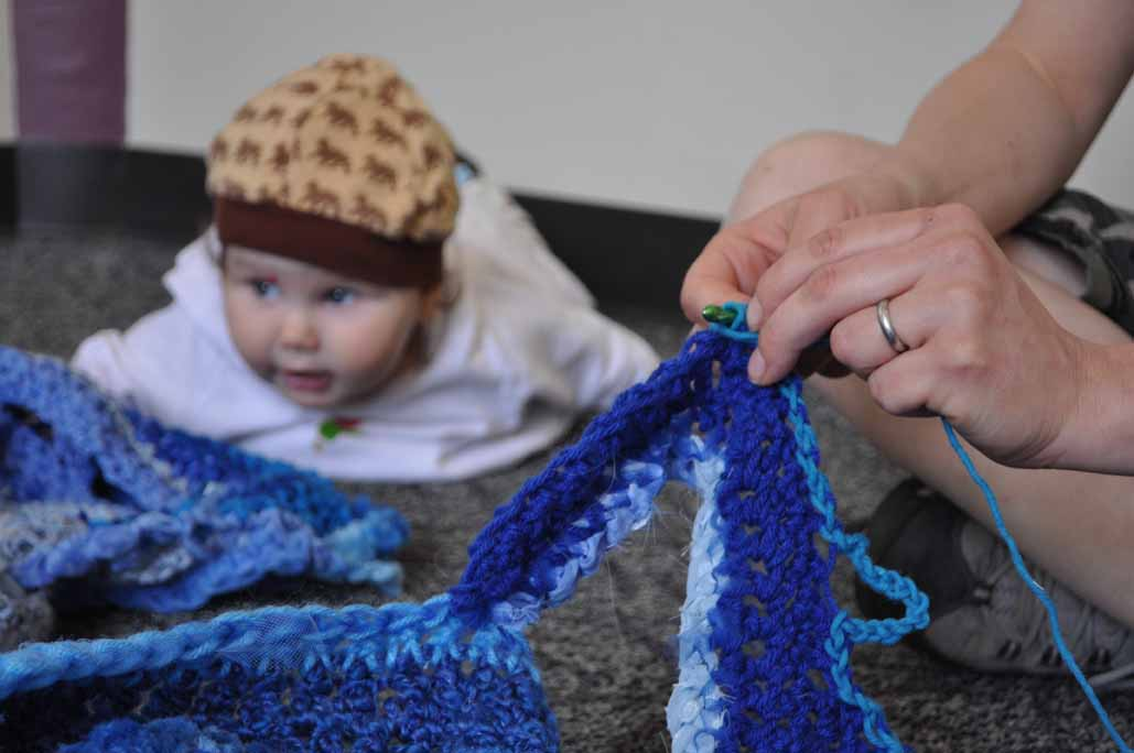 babies don't crochet, but they sing for us