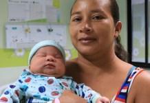 Bebê nasce com mais de 5 quilos