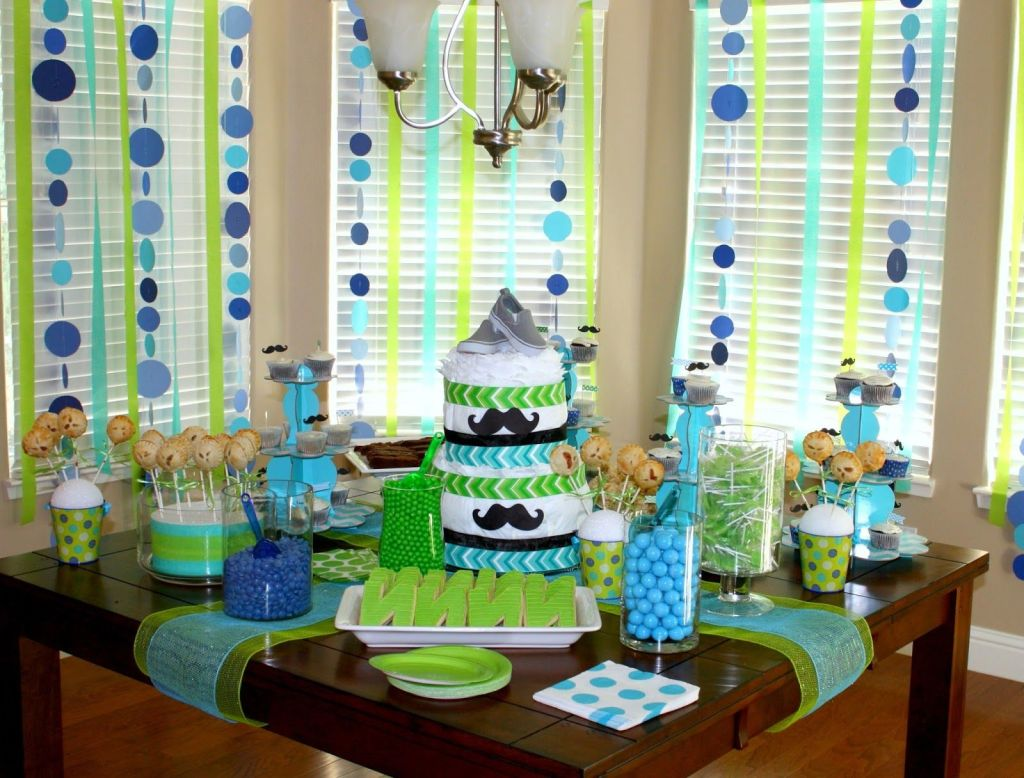 14 ideas para un baby shower maternidadfacil - Mesa de baby shower nino ...