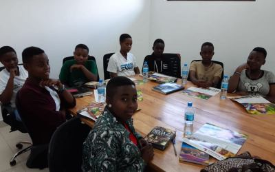 Young visitors learn about obstetric fistula