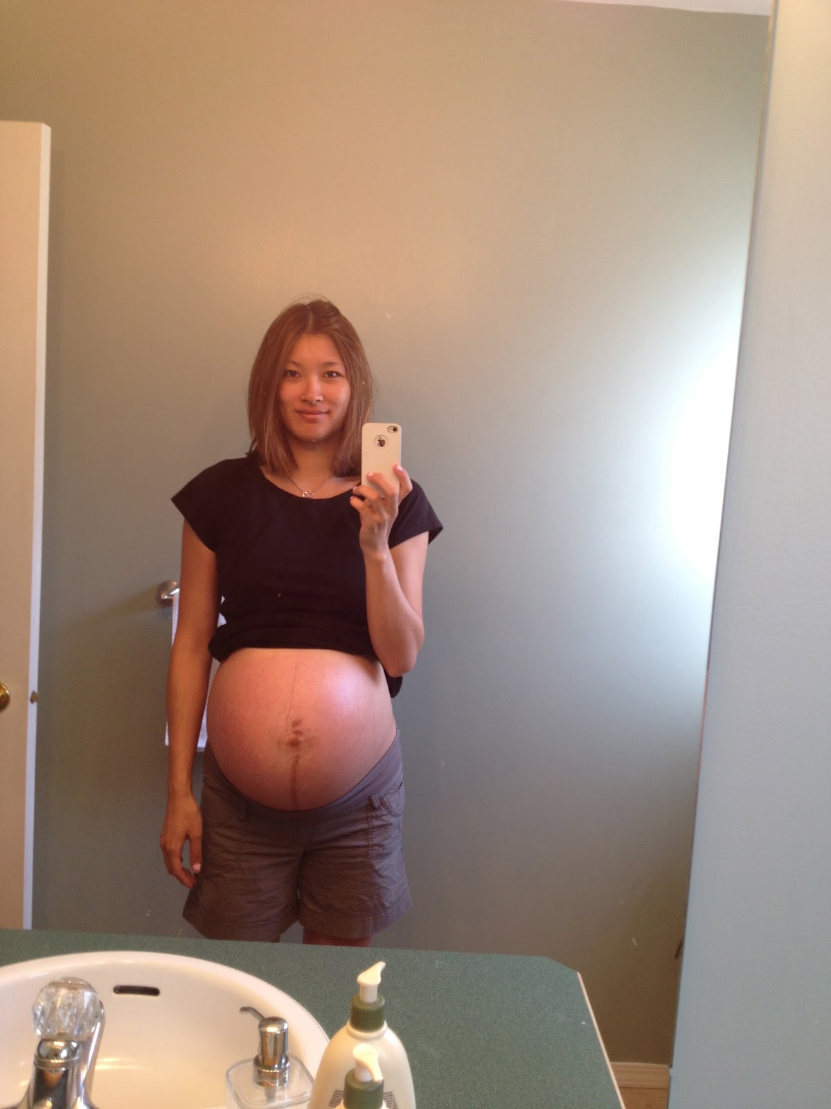 9 months pregnant with quadruplets