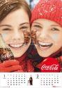 コカ・コーラカレンダー フェイスペインティング