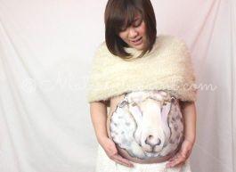 マタニティペイント:羊(干支)01