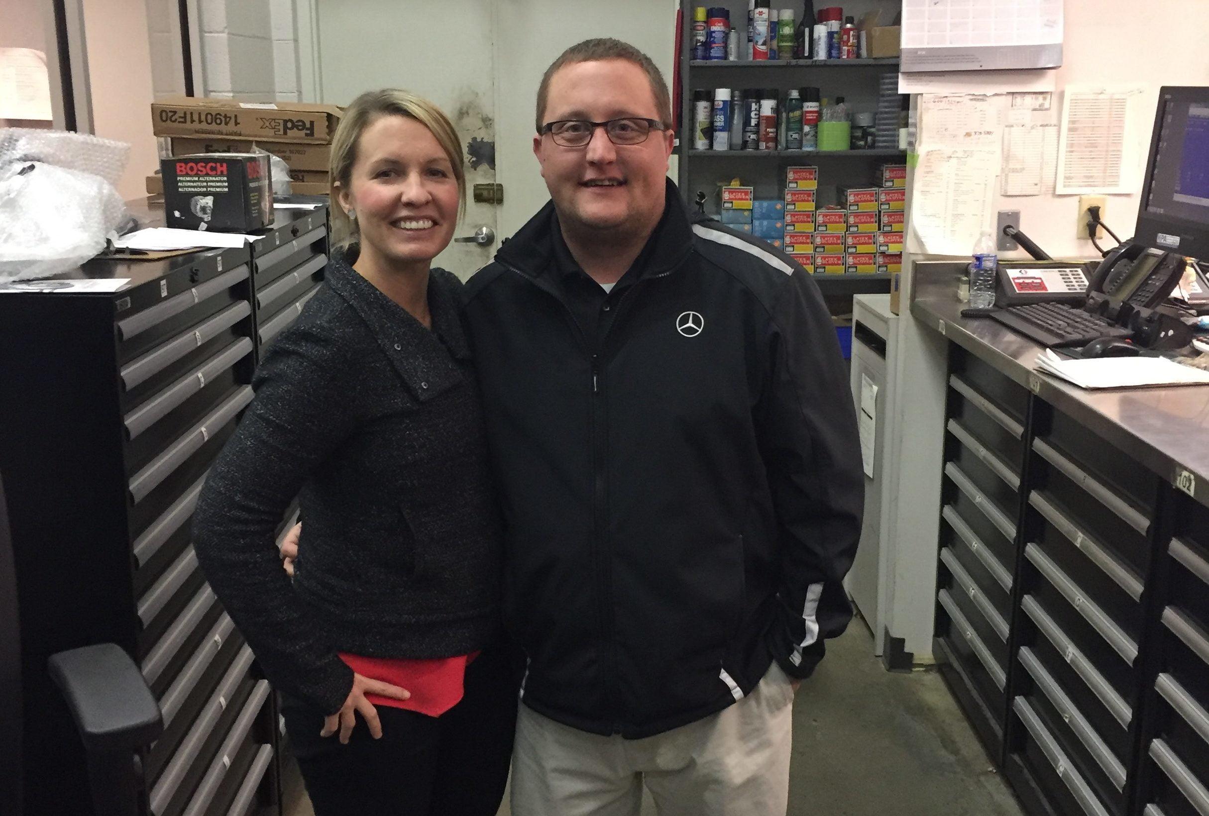 Ginni visits Mercedes Benz Fredericksburg