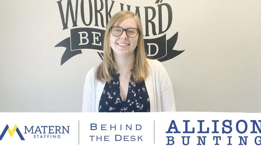 Behind the Desk: Allison Bunting