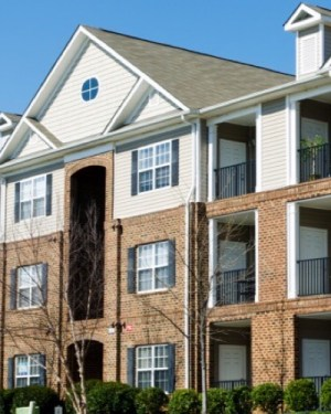 apartment complex depicting property management company's success story with our service