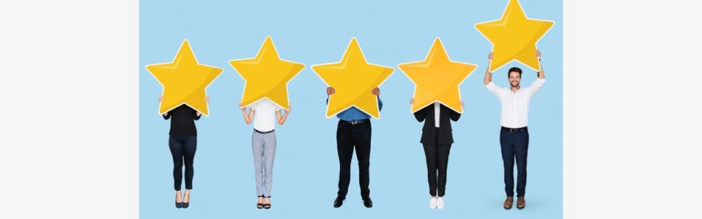 5 golden star rating about testimonials